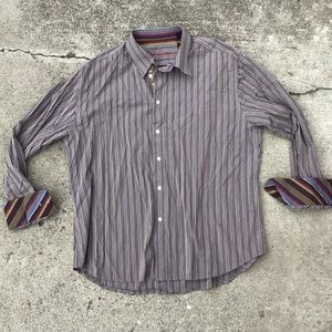 Robert Graham striped 3xl button up dress shirt